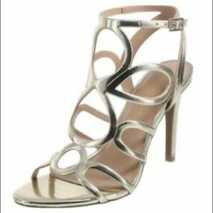 Christian Siriano for Payless Gold Caged Heels